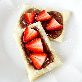 Chocolate Hazelnut Puff Pastry Tarts