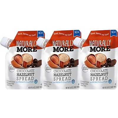 Natural Chocolate Hazelnut Spread with Probiotics and Flaxseed Pouch Naturally More