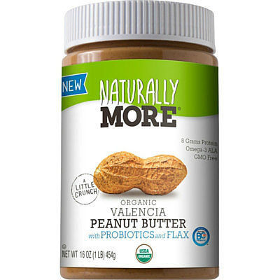 Organic Natural Valencia Peanut Butter with Probiotics and Flaxseed Naturally More